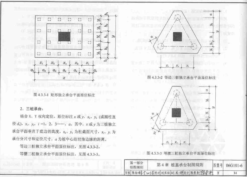 平法制图规则可参看06g101-6《独立基础,条形基础,桩基承台》图集.