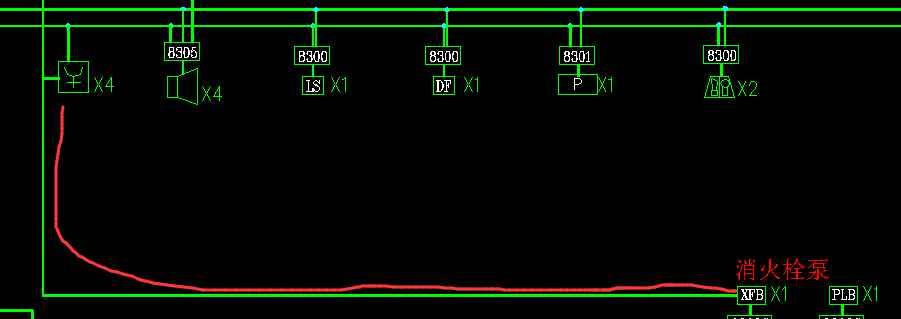 关于消火栓按钮的接线图