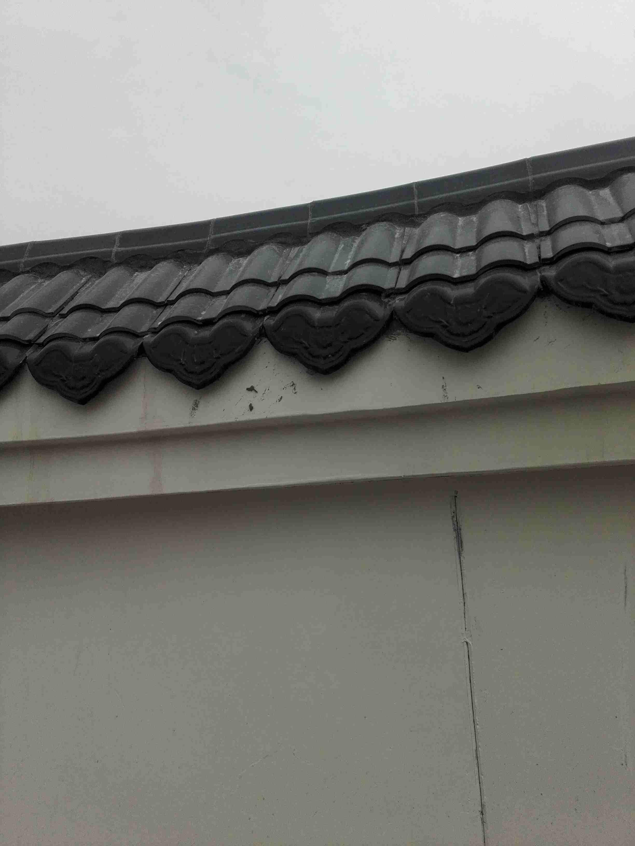 围墙瓦屋面,滴水瓦套定额