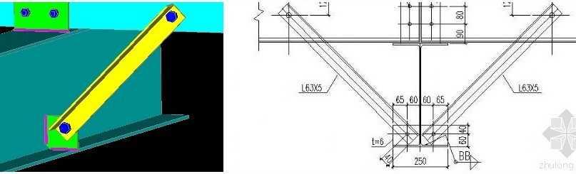 钢结构中隅撑,钢结构中隅撑知识 - 结构设计 - 造价通