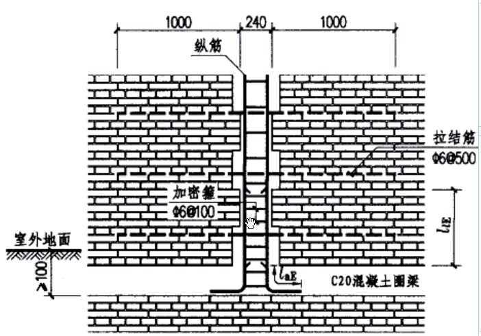 框架结构电梯井构造柱