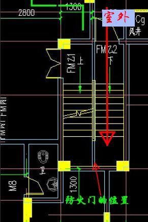 设计有上矛盾,从设计平面图看,大堂入楼梯是不能进入地下室的,室外有