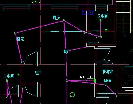 三联开关在两个灯具之间,与相邻的灯具管内穿几根线?分别是什么线?